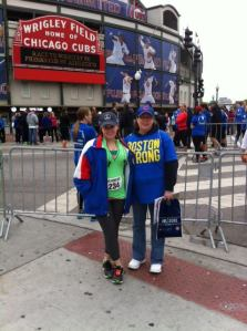 My Mom and I at the Race to Wrigley 2013